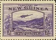 [Airmail - Plane over Bulolo Goldfield, type G]