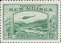 [Airmail - Plane over Bulolo Goldfield, type G1]