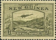 [Plane over Bulolo Goldfield - New Design, type J13]