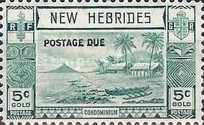 "[New Hebrides Postage Stamps of 1938 - English Version Overprinted ""POSTAGE DUE"", type C]"