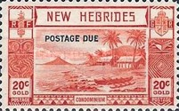 "[New Hebrides Postage Stamps of 1938 - English Version Overprinted ""POSTAGE DUE"", type C2]"