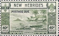 "[New Hebrides Postage Stamps of 1938 - English Version Overprinted ""POSTAGE DUE"", type C3]"
