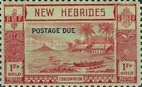 """[New Hebrides Postage Stamps of 1938 - English Version Overprinted """"POSTAGE DUE"""", type C4]"""