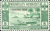 "[New Hebrides Postage Stamps of 1938 - French Version Overprinted ""CHIFFRE TAXE"""", type D]"