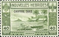 "[New Hebrides Postage Stamps of 1938 - French Version Overprinted ""CHIFFRE TAXE"""", type D3]"