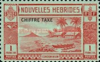 "[New Hebrides Postage Stamps of 1938 - French Version Overprinted ""CHIFFRE TAXE"""", type D4]"