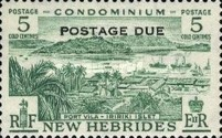 """[New Hebrides Postage Stamps of 1957 - English Version Overprinted """"POSTAGE DUE"""", type H]"""
