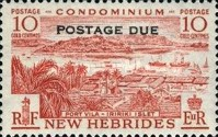 """[New Hebrides Postage Stamps of 1957 - English Version Overprinted """"POSTAGE DUE"""", type H1]"""