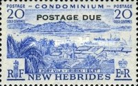 """[New Hebrides Postage Stamps of 1957 - English Version Overprinted """"POSTAGE DUE"""", type H2]"""