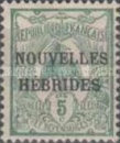 "[French Postage Stamps Overprinted ""NOUVELLES - HEBRIDES - CONDOMINIUM"", type C]"