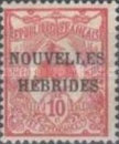 "[French Postage Stamps Overprinted ""NOUVELLES - HEBRIDES - CONDOMINIUM"", type C1]"