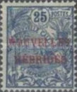 "[French Postage Stamps Overprinted ""NOUVELLES - HEBRIDES - CONDOMINIUM"", type C2]"