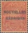 "[French Postage Stamps Overprinted ""NOUVELLES - HEBRIDES - CONDOMINIUM"", type C3]"