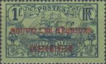 """[New Caledonia Postage Stamps Overprinted """"NOUVELLES - HEBRIDES - CONDOMINIUM"""", type D4]"""