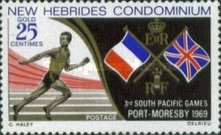 [South Pacific Games, Port Moresby - English Version, type DG]
