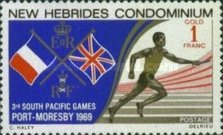 [South Pacific Games, Port Moresby - English Version, type DH]