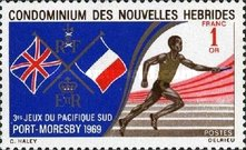 [South Pacific Games, Port Moresby - French Version, type DH1]