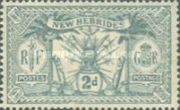 [Weapons and Totem Poles - British-French Joint Issue, type F2]