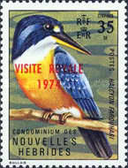 """[Royal Visit - Issues of 1972 Overprinted """"ROYAL VISIT 1974"""" - French Version, type GY1]"""