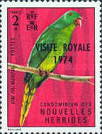 """[Royal Visit - Issues of 1972 Overprinted """"ROYAL VISIT 1974"""" - French Version, type GZ1]"""