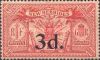 [Stamps of 1911-1912 Surcharged, type H6]
