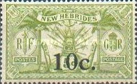 [Stamps of 1908-1912 Surcharged, type I3]