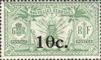 [Stamps of 1908-1912 Surcharged, type I4]