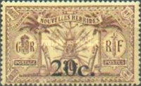[Stamps of 1908-1912 Surcharged, type I5]