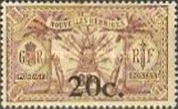 [Stamps of 1908-1912 Surcharged, type I6]