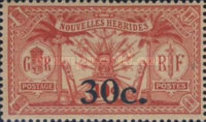 [Stamps of 1908-1912 Surcharged, type I7]
