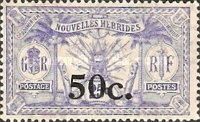 [Stamps of 1908-1912 Surcharged, type I8]