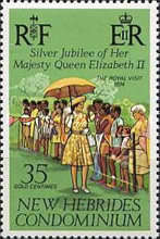 [The 25th Anniversary of the Reign of Queen Elizabeth II - English Version, type JM]