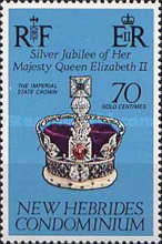 [The 25th Anniversary of the Reign of Queen Elizabeth II - English Version, type JN]