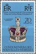 [The 25th Anniversary of the Reign of Queen Elizabeth II - French Version, type JN1]