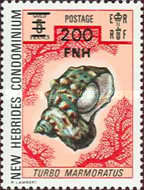 [Stamps of 1972 Surcharged - English Version, type KD]