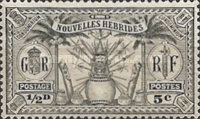 [Weapons and Totem Poles - British-French Joint Issue, type L]