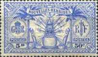 [Weapons and Totem Poles - British-French Joint Issue, type L6]