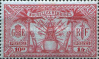 [Weapons and Totem Poles - British-French Joint Issue, type L8]