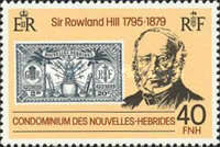 [The 100th Anniversary of the Death of Sir Rowland Hill, 1795-1879 - French Version, type NA1]