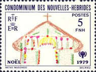 [Christmas and International Year of the Child - Children's Drawings - French Version, type NM1]