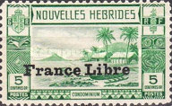 """[Local Landscape - Issues of 1938 Overprinted """"France Libre"""", type O]"""