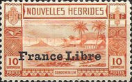 """[Local Landscape - Issues of 1938 Overprinted """"France Libre"""", type O1]"""