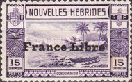 """[Local Landscape - Issues of 1938 Overprinted """"France Libre"""", type O2]"""