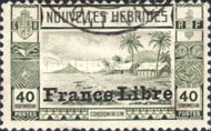 """[Local Landscape - Issues of 1938 Overprinted """"France Libre"""", type O6]"""