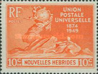 [The 75th Anniversary of U.P.U. - French Version, type P4]