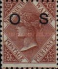 [Queen Victoria Issue of 1882-1893 Overprinted