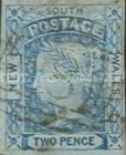"""[Queen Victoria - Colored Paper. 4 Winged """"Stars"""" in Corners, type B3]"""