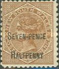 [Queen Victoria - Not Issued Stamps Surcharged in Black, type L9]