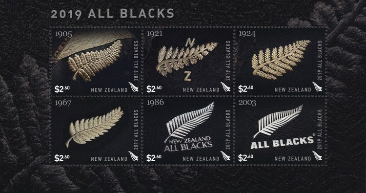 [New Zealand All Blacks Emblems in History, type ]