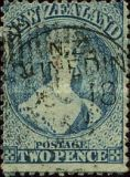 [Queen Victoria -  Perforated by Order from the Dunedin Postmaster, type A15]